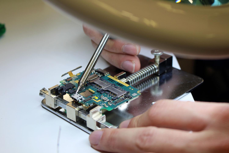 Reparación de placa