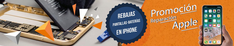 Rebajas en pantallas y baterías de iPhone